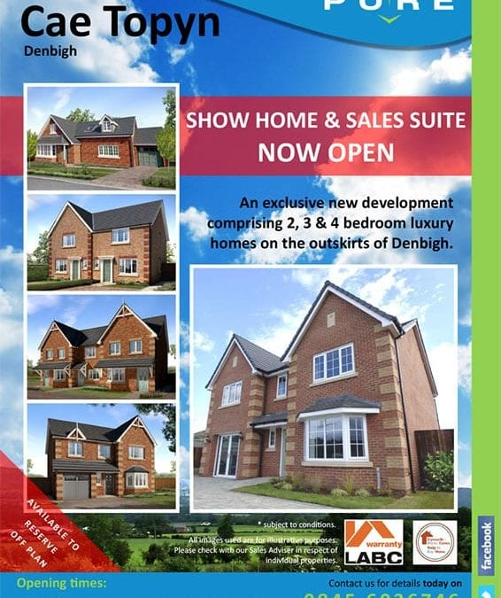 Cae Topyn Denbigh Show Home Opens. Come and Celebrate!